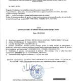 Anunț privind procedura de achiziție directă poziție manager proiect